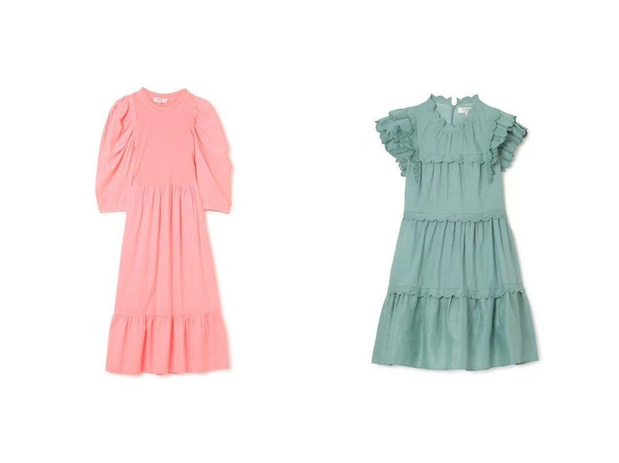 【Sea NEW YORK/シー ニューヨーク】のSHANNON SCALLOP RUFFLE DRESS&S DRESS 【ワンピース・ドレス】おすすめ!人気、トレンド・レディースファッションの通販 おすすめで人気の流行・トレンド、ファッションの通販商品 メンズファッション・キッズファッション・インテリア・家具・レディースファッション・服の通販 founy(ファニー) https://founy.com/ ファッション Fashion レディースファッション WOMEN ワンピース Dress ドレス Party Dresses 2021年 2021 2021春夏・S/S SS/Spring/Summer/2021 S/S・春夏 SS・Spring/Summer ギャザー ドレス ノースリーブ フェミニン フォーマル ラッフル コンパクト スリーブ フレア 長袖 |ID:crp329100000031145