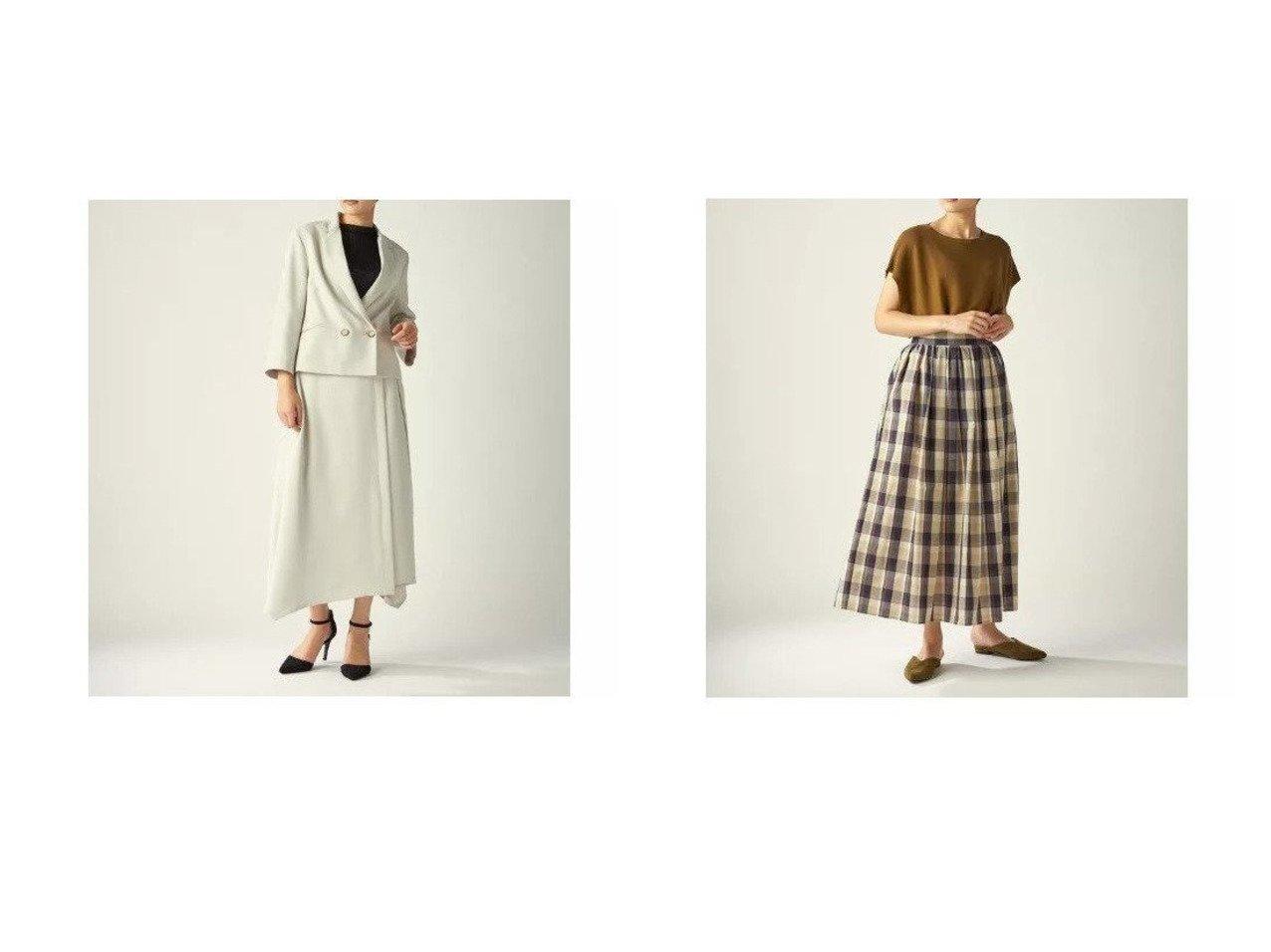 【CLEAR IMPRESSION/クリアインプレッション】のエステルオックススカート&エステルコットンチェックスカート 【スカート】おすすめ!人気、トレンド・レディースファッションの通販 おすすめで人気の流行・トレンド、ファッションの通販商品 メンズファッション・キッズファッション・インテリア・家具・レディースファッション・服の通販 founy(ファニー) https://founy.com/ ファッション Fashion レディースファッション WOMEN スカート Skirt シンプル ジャケット セットアップ ポケット ラップ ギャザー チェック ワイド |ID:crp329100000031412