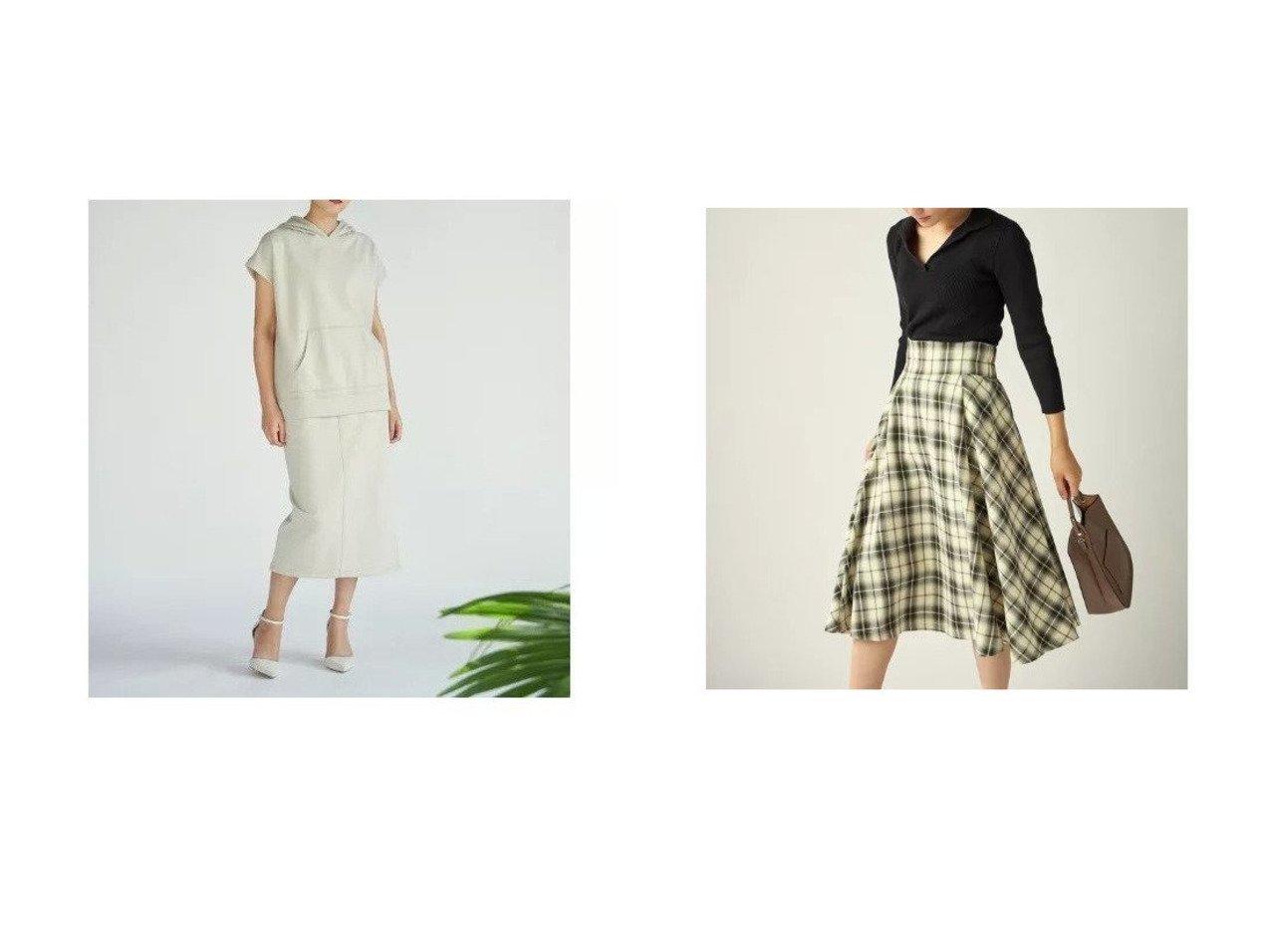 【CLEAR IMPRESSION/クリアインプレッション】の《musee》裏毛タイトスカート&《musee》オーバーペインチェックスカート 【スカート】おすすめ!人気、トレンド・レディースファッションの通販 おすすめで人気の流行・トレンド、ファッションの通販商品 メンズファッション・キッズファッション・インテリア・家具・レディースファッション・服の通販 founy(ファニー) https://founy.com/ ファッション Fashion レディースファッション WOMEN スカート Skirt セットアップ タイトスカート フロント ポケット リラックス チェック |ID:crp329100000031413