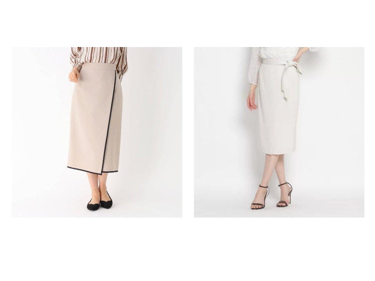 【modify/モディファイ】の配色パイピングラップ風スカート&【COUP DE CHANCE/クード シャンス】のエディスラブ タイトスカート 【スカート】おすすめ!人気、トレンド・レディースファッションの通販 おすすめで人気の流行・トレンド、ファッションの通販商品 メンズファッション・キッズファッション・インテリア・家具・レディースファッション・服の通販 founy(ファニー) https://founy.com/ ファッション Fashion レディースファッション WOMEN スカート Skirt タイトスカート ポケット ラップ リボン ストレッチ ストレート トレンド パイピング ロング |ID:crp329100000031414