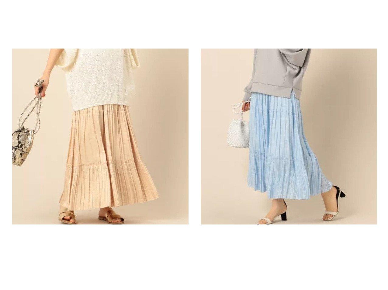 【NOLLEY'S/ノーリーズ】の割繊ティアードプリーツスカート 【スカート】おすすめ!人気、トレンド・レディースファッションの通販 おすすめで人気の流行・トレンド、ファッションの通販商品 メンズファッション・キッズファッション・インテリア・家具・レディースファッション・服の通販 founy(ファニー) https://founy.com/ ファッション Fashion レディースファッション WOMEN スカート Skirt プリーツスカート Pleated Skirts シンプル ティアード フェミニン マキシ ロング |ID:crp329100000031419