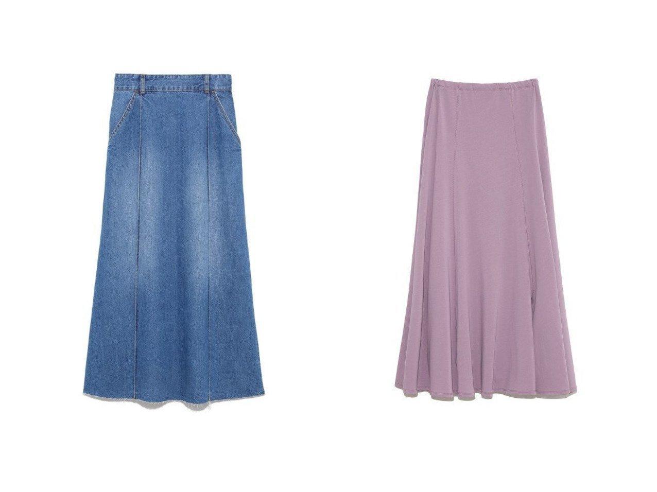 【Mila Owen/ミラオーウェン】のセンターコバデニムロングスカート&SET UPジャージナロースカート 【スカート】おすすめ!人気、トレンド・レディースファッションの通販 おすすめで人気の流行・トレンド、ファッションの通販商品 メンズファッション・キッズファッション・インテリア・家具・レディースファッション・服の通販 founy(ファニー) https://founy.com/ ファッション Fashion レディースファッション WOMEN スカート Skirt ロングスカート Long Skirt ウォッシャブル ジャージ ジャージー スマート パジャマ パープル リラックス ロング 再入荷 Restock/Back in Stock/Re Arrival |ID:crp329100000031425