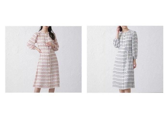 【AMACA/アマカ】のTribal art ワンピース 【ワンピース・ドレス】おすすめ!人気、トレンド・レディースファッションの通販   おすすめファッション通販アイテム レディースファッション・服の通販 founy(ファニー) ファッション Fashion レディースファッション WOMEN ワンピース Dress ドレス Party Dresses 2021年 2021 2021春夏・S/S SS/Spring/Summer/2021 S/S・春夏 SS・Spring/Summer アンダー ギャザー グラデーション ツイル ドレス フェミニン フォーマル プリント 洗える 羽織 |ID:crp329100000031777