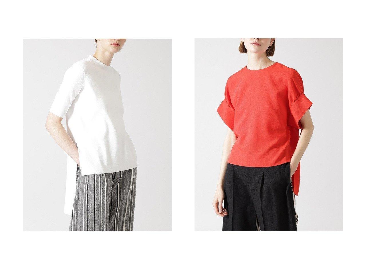 【ADORE/アドーア】のクールストレッチニットプルオーバー&イージージョーゼットブラウス 【トップス・カットソー】おすすめ!人気、トレンド・レディースファッションの通販   おすすめで人気の流行・トレンド、ファッションの通販商品 メンズファッション・キッズファッション・インテリア・家具・レディースファッション・服の通販 founy(ファニー) https://founy.com/ ファッション Fashion レディースファッション WOMEN トップス・カットソー Tops/Tshirt ニット Knit Tops プルオーバー Pullover シャツ/ブラウス Shirts/Blouses ストレッチ フィット ヘムライン ベーシック おすすめ Recommend ショート ジョーゼット スリーブ セットアップ リラックス |ID:crp329100000031790