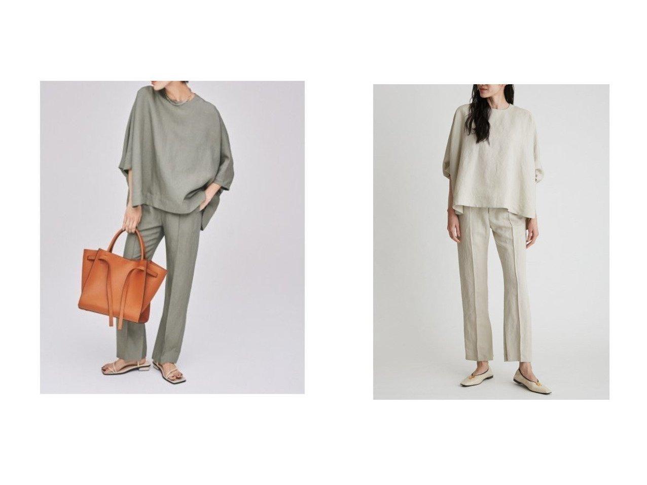 【Mila Owen/ミラオーウェン】のポンチョトップス リネンパンツ/SET UP 【トップス・カットソー】おすすめ!人気、トレンド・レディースファッションの通販   おすすめで人気の流行・トレンド、ファッションの通販商品 メンズファッション・キッズファッション・インテリア・家具・レディースファッション・服の通販 founy(ファニー) https://founy.com/ ファッション Fashion レディースファッション WOMEN アウター Coat Outerwear ポンチョ Ponchos セットアップ Setup トップス Tops パンツ Pants オケージョン スマート セットアップ フォーマル ブローチ リネン 再入荷 Restock/Back in Stock/Re Arrival おすすめ Recommend |ID:crp329100000031799