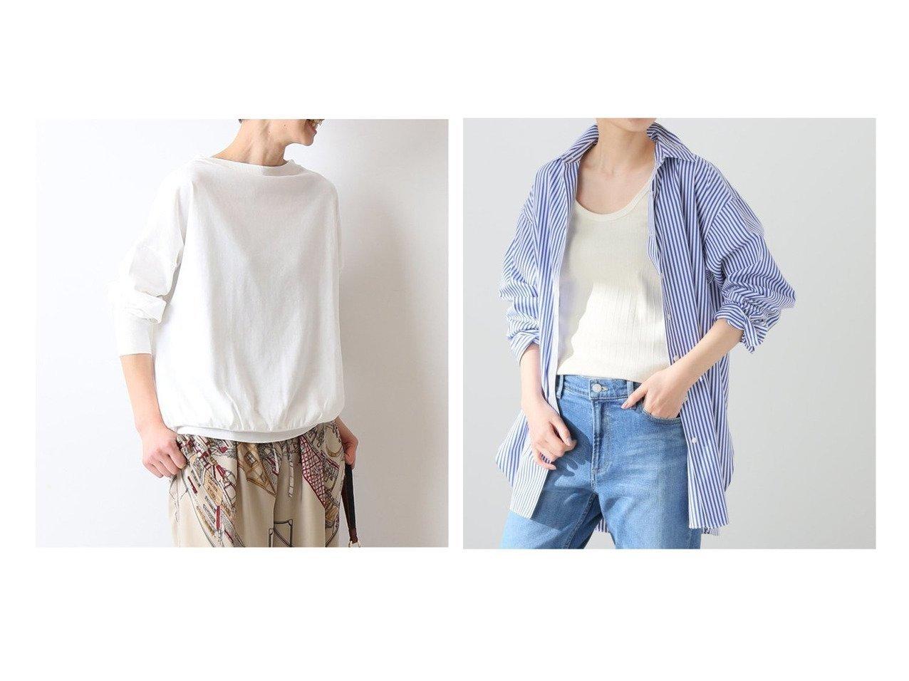 【FRAMeWORK/フレームワーク】のTHOMAS MASONシャツ&GASS COTTON プルオーバー 【トップス・カットソー】おすすめ!人気、トレンド・レディースファッションの通販   おすすめで人気の流行・トレンド、ファッションの通販商品 メンズファッション・キッズファッション・インテリア・家具・レディースファッション・服の通販 founy(ファニー) https://founy.com/ ファッション Fashion レディースファッション WOMEN トップス・カットソー Tops/Tshirt ニット Knit Tops プルオーバー Pullover シャツ/ブラウス Shirts/Blouses 2021年 2021 2021春夏・S/S SS/Spring/Summer/2021 S/S・春夏 SS・Spring/Summer イタリア セーター 再入荷 Restock/Back in Stock/Re Arrival NEW・新作・新着・新入荷 New Arrivals カフス ストライプ スリット バランス ワンポイント |ID:crp329100000031800