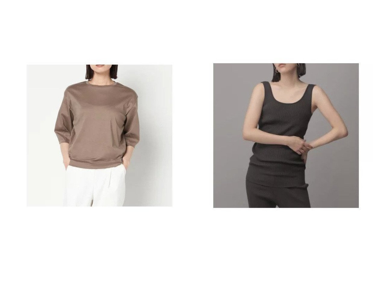 【eer:/エール】のコットン コクーンスリーブ カットソー&【Chaos/カオス】のCR16Gインプレリブタンクトップ 【トップス・カットソー】おすすめ!人気、トレンド・レディースファッションの通販   おすすめで人気の流行・トレンド、ファッションの通販商品 メンズファッション・キッズファッション・インテリア・家具・レディースファッション・服の通販 founy(ファニー) https://founy.com/ ファッション Fashion レディースファッション WOMEN トップス・カットソー Tops/Tshirt シャツ/ブラウス Shirts/Blouses ロング / Tシャツ T-Shirts カットソー Cut and Sewn カットソー スリーブ 半袖 シンプル ストレッチ タンク デコルテ フィット 今季 洗える |ID:crp329100000031810