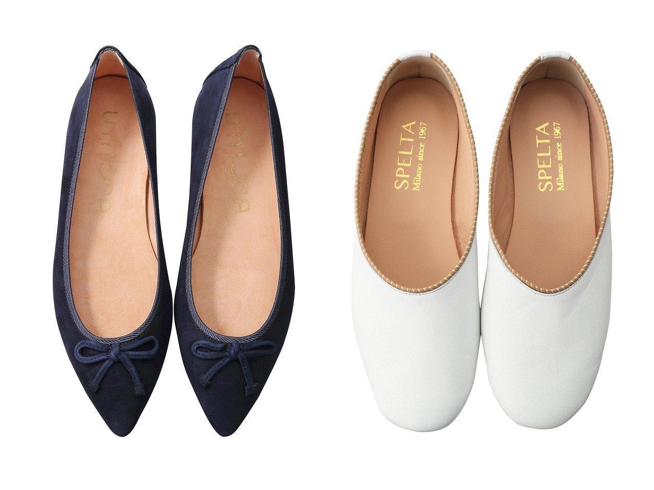 【Esmeralda/エスメラルダ】の【UNISA】ポインテッドバレエシューズ&【SPELTA/スペルタ】のPIPER ナッパバレエシューズ 【シューズ・靴】おすすめ!人気、トレンド・レディースファッションの通販  おすすめで人気の流行・トレンド、ファッションの通販商品 メンズファッション・キッズファッション・インテリア・家具・レディースファッション・服の通販 founy(ファニー) https://founy.com/ ファッション Fashion レディースファッション WOMEN シューズ シンプル バレエ フラット フェミニン マニッシュ ワイド 人気 再入荷 Restock/Back in Stock/Re Arrival |ID:crp329100000032102