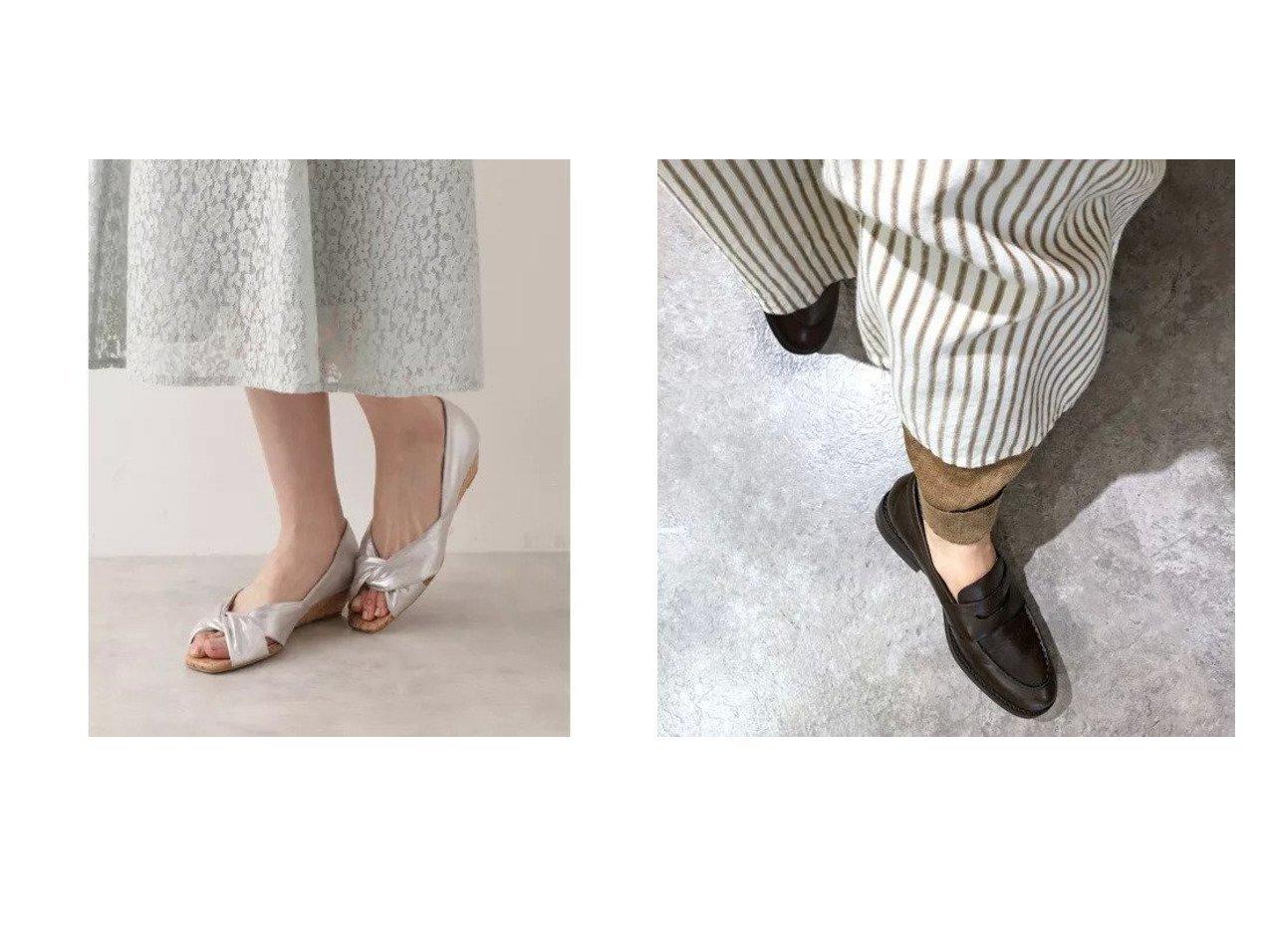 【enchanted/エンチャンテッド】の【APOM】本革コインローファー&【NATURAL BEAUTY BASIC/ナチュラル ビューティー ベーシック】のドレープオープンウェッジ 【シューズ・靴】おすすめ!人気、トレンド・レディースファッションの通販  おすすめで人気の流行・トレンド、ファッションの通販商品 メンズファッション・キッズファッション・インテリア・家具・レディースファッション・服の通販 founy(ファニー) https://founy.com/ ファッション Fashion レディースファッション WOMEN シューズ ソックス タイツ フラット 定番 Standard ライニング |ID:crp329100000032116