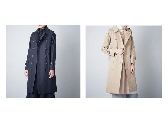 【SANYO COAT/サンヨーコート】のクラシックトレンチコート(三陽格子) 【アウター】おすすめ!人気、トレンド・レディースファッションの通販  おすすめファッション通販アイテム インテリア・キッズ・メンズ・レディースファッション・服の通販 founy(ファニー) https://founy.com/ ファッション Fashion レディースファッション WOMEN アウター Coat Outerwear コート Coats トレンチコート Trench Coats エレガント クラシック スタンダード プリーツ ポケット ライナー |ID:crp329100000032165