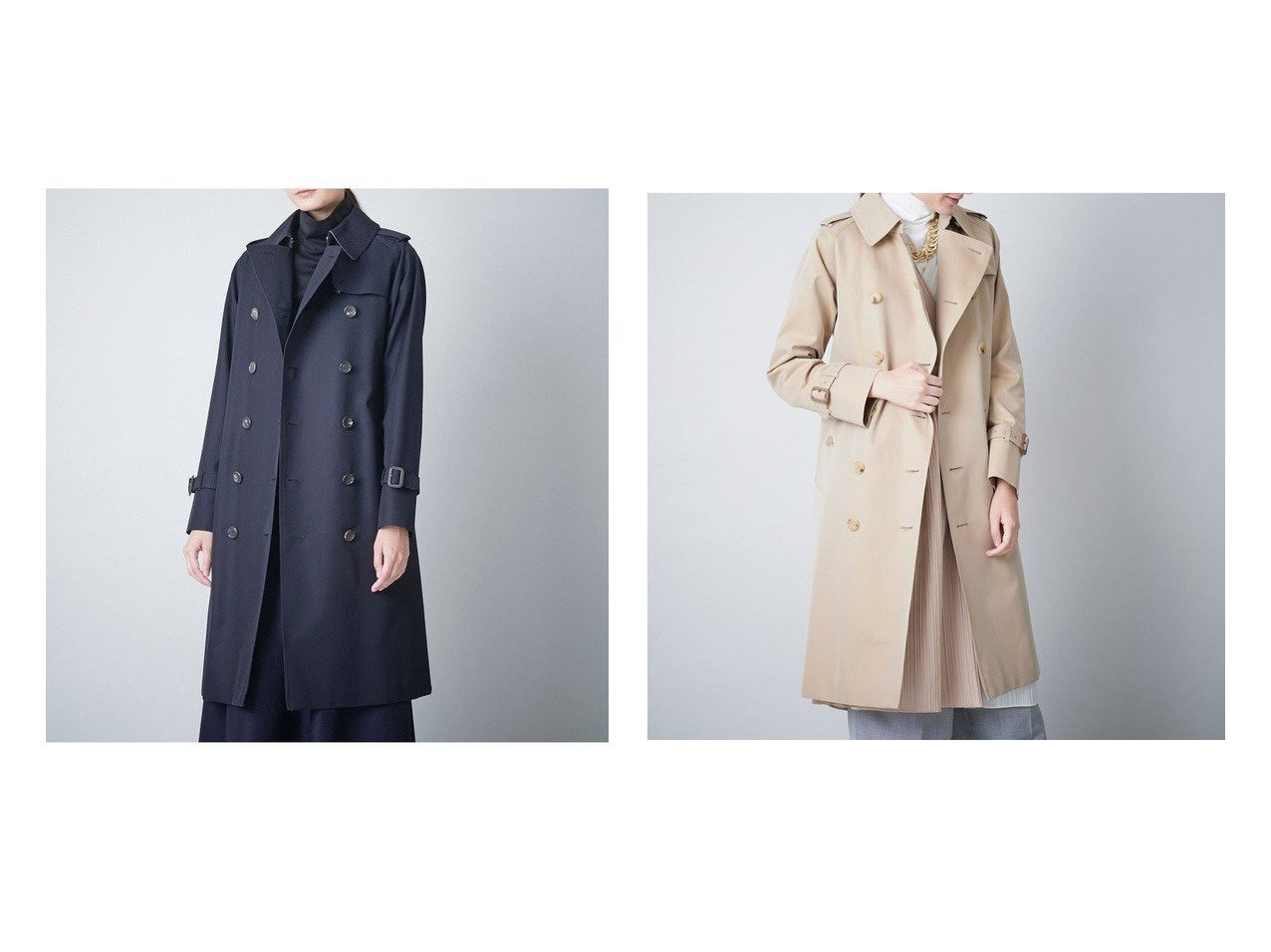 【SANYO COAT/サンヨーコート】のクラシックトレンチコート(三陽格子) 【アウター】おすすめ!人気、トレンド・レディースファッションの通販  おすすめで人気の流行・トレンド、ファッションの通販商品 メンズファッション・キッズファッション・インテリア・家具・レディースファッション・服の通販 founy(ファニー) https://founy.com/ ファッション Fashion レディースファッション WOMEN アウター Coat Outerwear コート Coats トレンチコート Trench Coats エレガント クラシック スタンダード プリーツ ポケット ライナー |ID:crp329100000032165