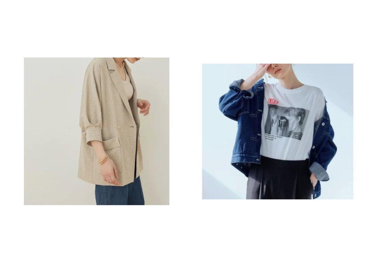 【ADAM ET ROPE'/アダム エ ロペ】のドルマンシャツジャケット&【green label relaxing / UNITED ARROWS/グリーンレーベル リラクシング / ユナイテッドアローズ】のSC デニム ガーメントダイ チノ ジャケット 【アウター】おすすめ!人気、トレンド・レディースファッションの通販  おすすめで人気の流行・トレンド、ファッションの通販商品 メンズファッション・キッズファッション・インテリア・家具・レディースファッション・服の通販 founy(ファニー) https://founy.com/ ファッション Fashion レディースファッション WOMEN アウター Coat Outerwear ジャケット Jackets ヴィンテージ 春 Spring 秋 Autumn/Fall コンパクト ジャケット デニム フリンジ ベーシック ルーズ おすすめ Recommend |ID:crp329100000032173