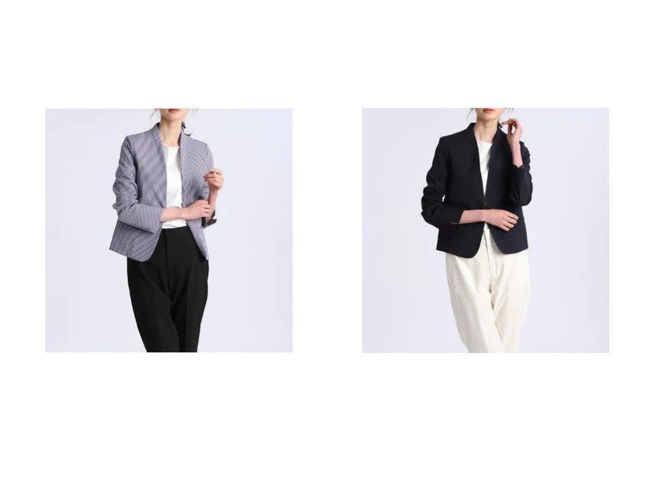 【INED/イネド】のカラーレスサッカージャケット 【アウター】おすすめ!人気、トレンド・レディースファッションの通販  おすすめで人気の流行・トレンド、ファッションの通販商品 メンズファッション・キッズファッション・インテリア・家具・レディースファッション・服の通販 founy(ファニー) https://founy.com/ ファッション Fashion レディースファッション WOMEN アウター Coat Outerwear ジャケット Jackets コンパクト サッカー ジャケット ストライプ フォルム ポケット |ID:crp329100000032175