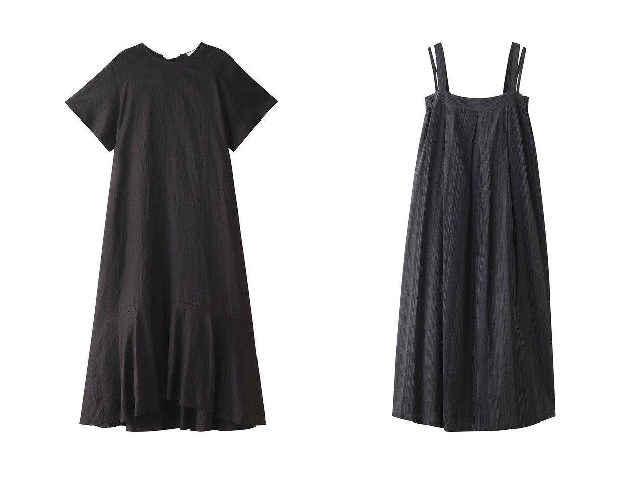 【normment/ノーメント】のラミーCBリボンドレス&リネンコットンストライプタックドレス 【ワンピース・ドレス】おすすめ!人気、トレンド・レディースファッションの通販  おすすめで人気の流行・トレンド、ファッションの通販商品 メンズファッション・キッズファッション・インテリア・家具・レディースファッション・服の通販 founy(ファニー) https://founy.com/ ファッション Fashion レディースファッション WOMEN ワンピース Dress ドレス Party Dresses ドレス フェミニン フレア ペプラム リボン S/S・春夏 SS・Spring/Summer ストライプ ダブル ミックス リネン 春 Spring |ID:crp329100000032181