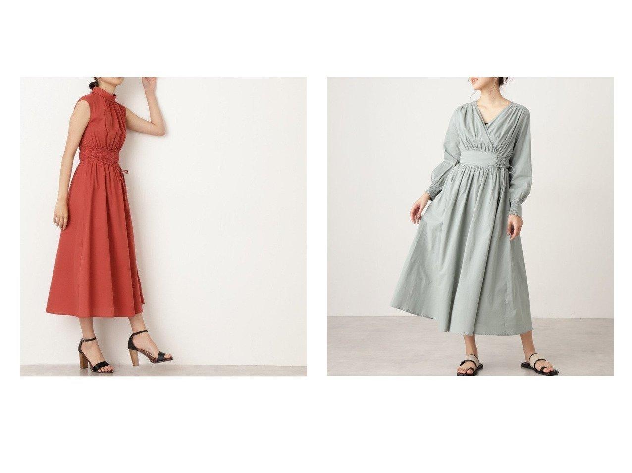 【N.Natural Beauty basic/エヌ ナチュラルビューティーベーシック】のコットンローンカシュレースアップワンピース&コットンローンロールネックワンピース S Size Line 【ワンピース・ドレス】おすすめ!人気、トレンド・レディースファッションの通販  おすすめで人気の流行・トレンド、ファッションの通販商品 メンズファッション・キッズファッション・インテリア・家具・レディースファッション・服の通販 founy(ファニー) https://founy.com/ ファッション Fashion レディースファッション WOMEN ワンピース Dress ギャザー シャーリング リボン カシュクール フィット |ID:crp329100000032193