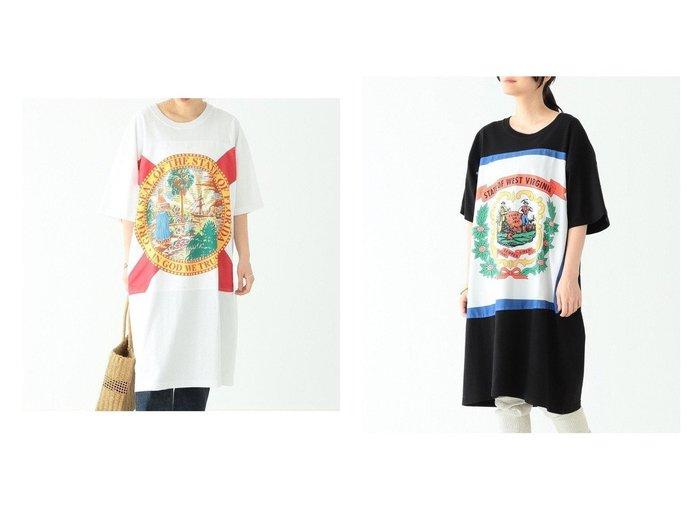 【BEAMS BOY/ビームス ボーイ】のState Flag ワンピース 【ワンピース・ドレス】おすすめ!人気、トレンド・レディースファッションの通販  おすすめファッション通販アイテム インテリア・キッズ・メンズ・レディースファッション・服の通販 founy(ファニー) https://founy.com/ ファッション Fashion レディースファッション WOMEN ワンピース Dress 春 Spring バンダナ ビッグ フォルム ベーシック 半袖 モチーフ ルーズ NEW・新作・新着・新入荷 New Arrivals  ID:crp329100000032290