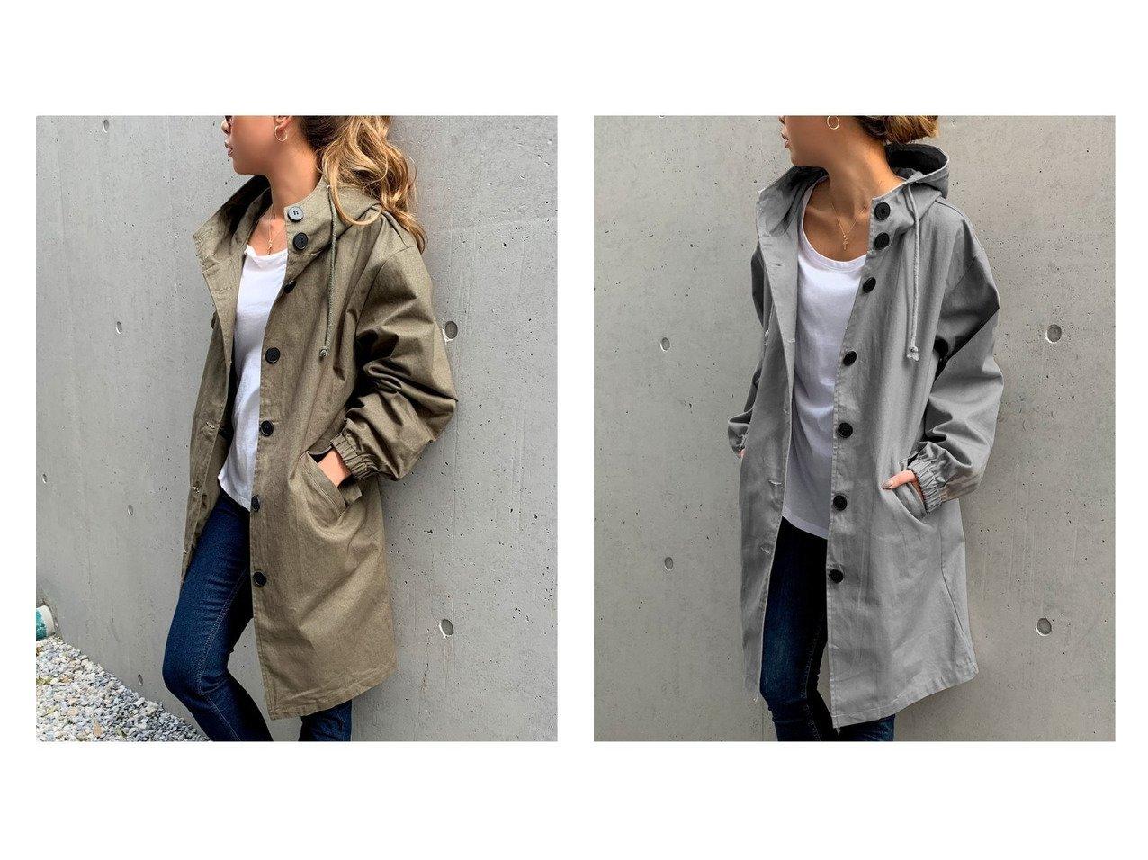 【JUNOAH/ジュノア】のフード付きロングジャケット 【アウター】おすすめ!人気、トレンド・レディースファッションの通販  おすすめで人気の流行・トレンド、ファッションの通販商品 メンズファッション・キッズファッション・インテリア・家具・レディースファッション・服の通販 founy(ファニー) https://founy.com/ ファッション Fashion レディースファッション WOMEN アウター Coat Outerwear コート Coats ジャケット Jackets ジャケット ロング |ID:crp329100000032307