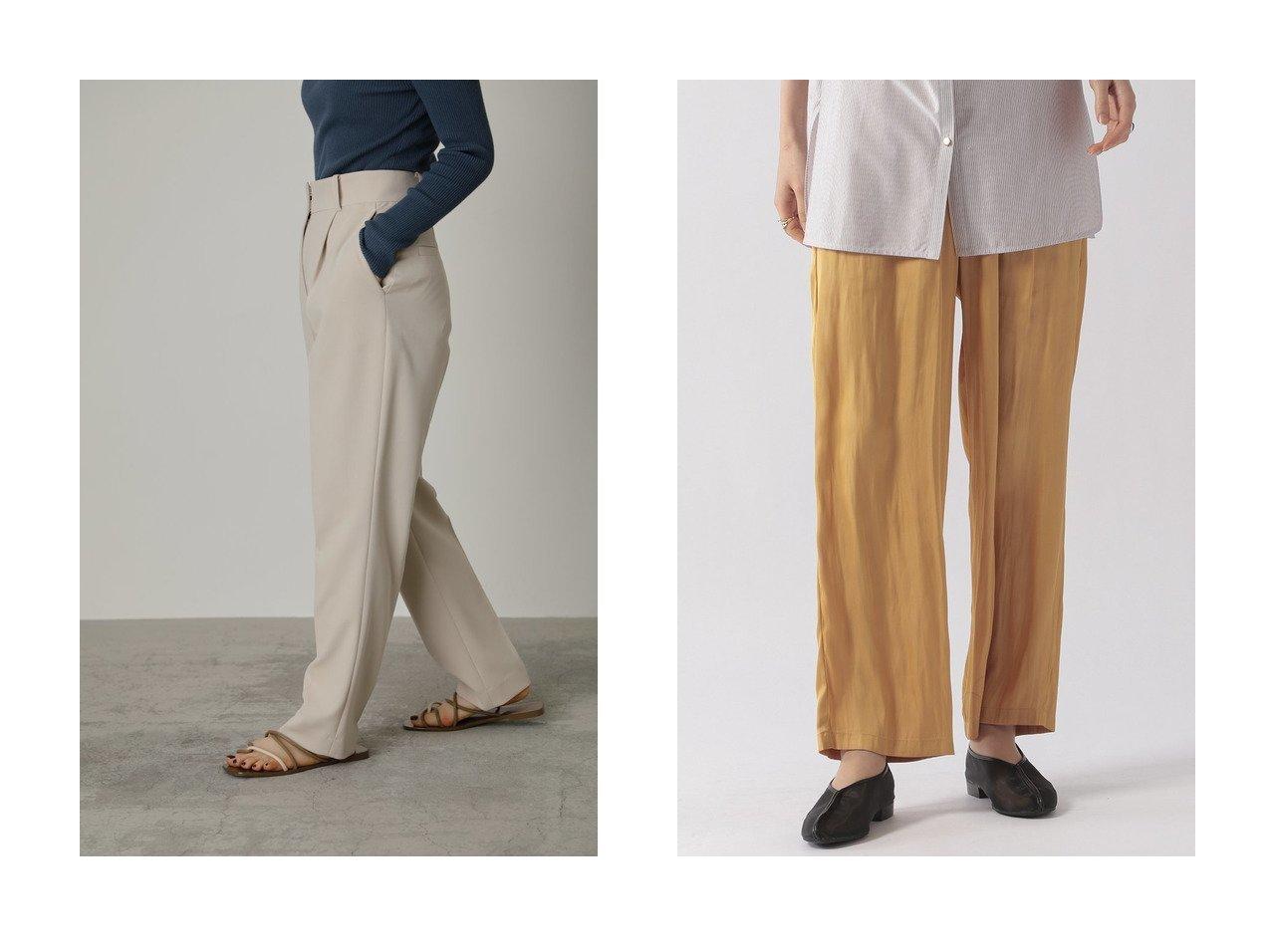 【Ezick/エジック】のカッセンサテンパンツ&【RIM.ARK/リムアーク】のパンツ 【パンツ】おすすめ!人気、トレンド・レディースファッションの通販 おすすめで人気の流行・トレンド、ファッションの通販商品 メンズファッション・キッズファッション・インテリア・家具・レディースファッション・服の通販 founy(ファニー) https://founy.com/ ファッション Fashion レディースファッション WOMEN パンツ Pants キュプラ お家時間・ステイホーム Home Time/Stay Home サテン リラックス ワイド  ID:crp329100000032318