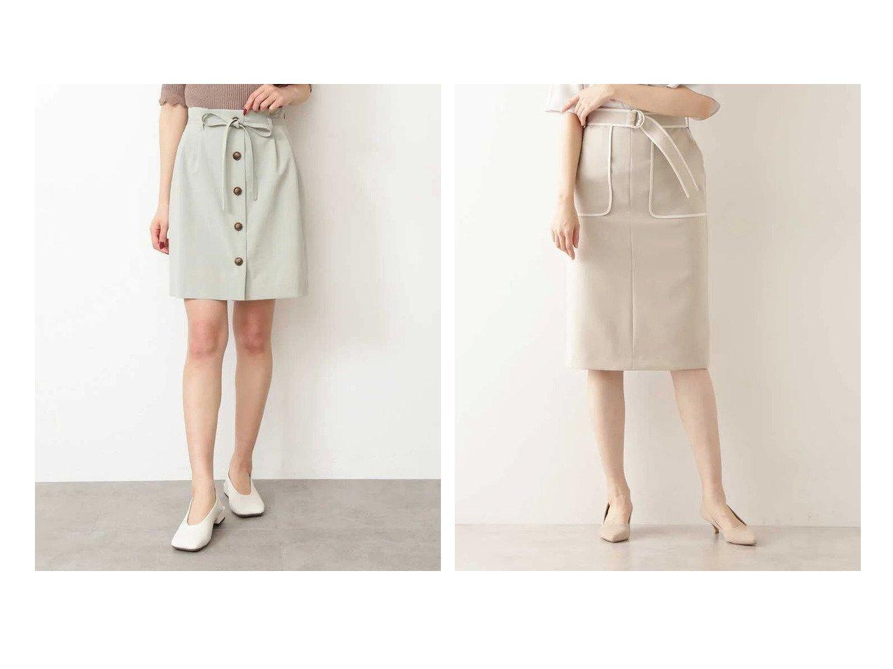 【FREE'S MART/フリーズマート】の《Sシリーズ対応商品》麻調合繊フロントボタンミニスカート&【NATURAL BEAUTY BASIC/ナチュラル ビューティー ベーシック】のバイカラータイトスカート 【スカート】おすすめ!人気、トレンド・レディースファッションの通販 おすすめで人気の流行・トレンド、ファッションの通販商品 メンズファッション・キッズファッション・インテリア・家具・レディースファッション・服の通販 founy(ファニー) https://founy.com/ ファッション Fashion レディースファッション WOMEN スカート Skirt ミニスカート Mini Skirts セットアップ フロント ミニスカート リボン 台形 タイトスカート ポケット |ID:crp329100000032376