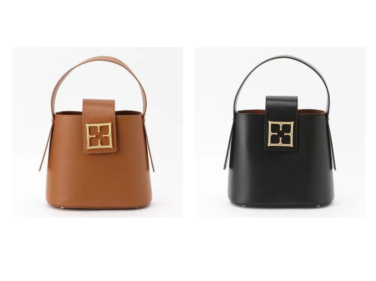 【EPOCA/エポカ】のロゴレザーワンハンドルバッグ 【バッグ・鞄】おすすめ!人気、トレンド・レディースファッションの通販 おすすめで人気の流行・トレンド、ファッションの通販商品 メンズファッション・キッズファッション・インテリア・家具・レディースファッション・服の通販 founy(ファニー) https://founy.com/ ファッション Fashion レディースファッション WOMEN バッグ Bag S/S・春夏 SS・Spring/Summer ショルダー シンプル チェーン ハンドバッグ バケツ フォルム モチーフ 春 Spring  ID:crp329100000032410