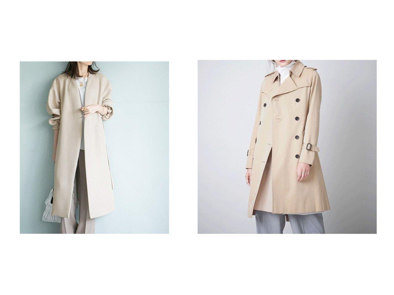 【SANYO COAT/サンヨーコート】のダブルトレンチコート&【NOBLE / Spick & Span/ノーブル / スピック&スパン】の《追加》トリプルクロスパフスリーブコート 【アウター】おすすめ!人気、トレンド・レディースファッションの通販 おすすめで人気の流行・トレンド、ファッションの通販商品 メンズファッション・キッズファッション・インテリア・家具・レディースファッション・服の通販 founy(ファニー) https://founy.com/ ファッション Fashion レディースファッション WOMEN アウター Coat Outerwear コート Coats トレンチコート Trench Coats 軽量 スリーブ 人気 フェミニン リラックス ロング 2021年 2021 再入荷 Restock/Back in Stock/Re Arrival S/S・春夏 SS・Spring/Summer 2021春夏・S/S SS/Spring/Summer/2021 エレガント スタンダード ダブル パープル プリーツ ポケット ライナー リバーシブル |ID:crp329100000032419