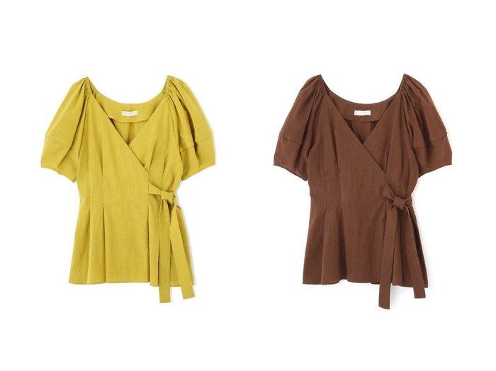【FREE'S MART/フリーズマート】のウエストシェイプサイドリボンブラウス 【トップス・カットソー】おすすめ!人気トレンド・レディースファッションの通販 おすすめ人気トレンドファッション通販アイテム 人気、トレンドファッション・服の通販 founy(ファニー) ファッション Fashion レディースファッション WOMEN トップス・カットソー Tops/Tshirt シャツ/ブラウス Shirts/Blouses オフショル シアー シェイプ スリーブ チュニック デコルテ リボン 今季 |ID:crp329100000032513