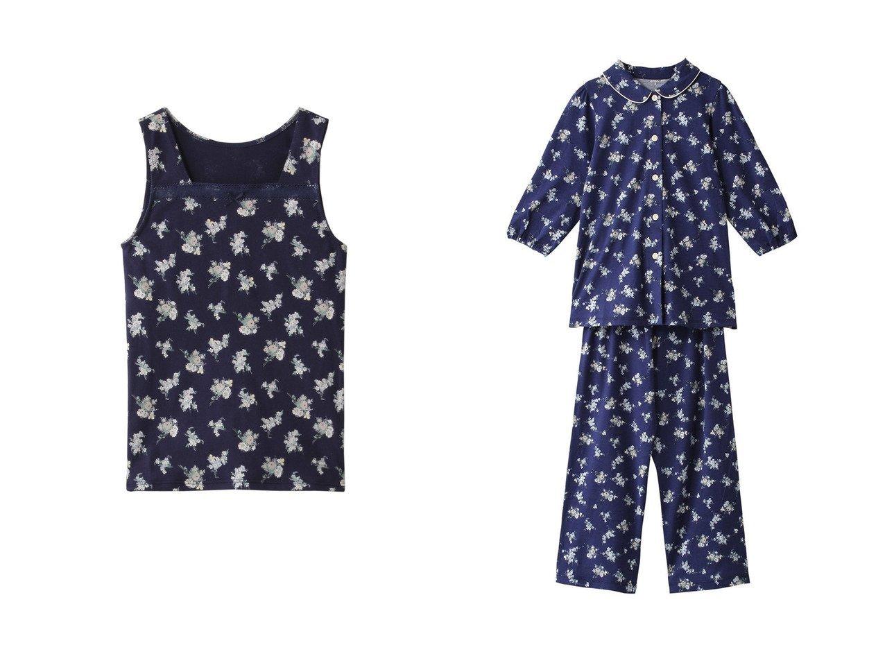 【KID BLUE / KIDS/キッドブルー】の【KIDS】ライラックブーケキャミソール&【KIDS】ライラックブーケN(STAR)パジャマ 【KIDS】子供服のおすすめ!人気トレンド・キッズファッションの通販  おすすめで人気の流行・トレンド、ファッションの通販商品 メンズファッション・キッズファッション・インテリア・家具・レディースファッション・服の通販 founy(ファニー) https://founy.com/ ファッション Fashion キッズファッション KIDS トップス・カットソー Tops/Tees/Kids インナー キャミソール フラワー リボン レース ドット パイピング パジャマ 定番 Standard |ID:crp329100000032581