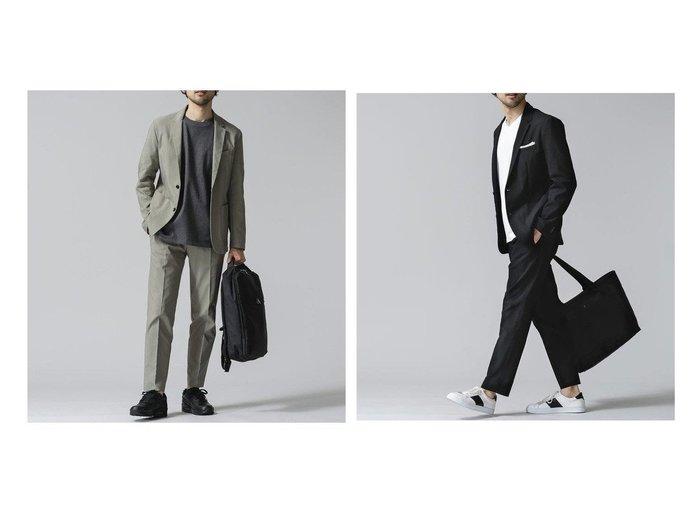 【nano universe / MEN/ナノ ユニバース】のダメリーノ TEXBRID AIRホップサック セットアップ 【MEN】おすすめ!人気トレンド・男性、メンズファッションの通販  おすすめ人気トレンドファッション通販アイテム インテリア・キッズ・メンズ・レディースファッション・服の通販 founy(ファニー) https://founy.com/ ファッション Fashion メンズファッション MEN セットアップ Setup/Men インナー シェイプ ジャケット スタイリッシュ ストレッチ スーツ セットアップ フォーマル |ID:crp329100000032600