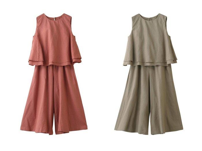 【nest Robe/ネストローブ】の【Highgrove】リネンノースリーブ&キュロットパンツセットアップ 【ワンピース・ドレス】おすすめ!人気、トレンド・レディースファッションの通販 おすすめ人気トレンドファッション通販アイテム 人気、トレンドファッション・服の通販 founy(ファニー) ファッション Fashion レディースファッション WOMEN セットアップ Setup パンツ Pants スカート Skirt スカート Skirt キュロットスカート Culotte Skirt S/S・春夏 SS・Spring/Summer キュロット セットアップ ノースリーブ リネン ワイド 今季 春 Spring |ID:crp329100000032670