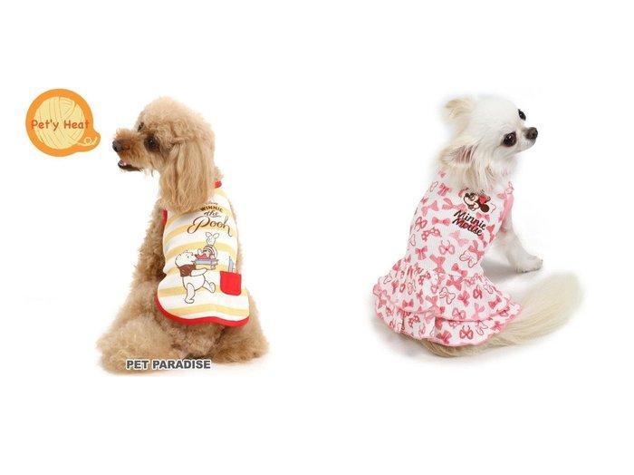 【PET PARADISE/ペットパラダイス】のディズニーくまのプーさん ワッフル ペティヒート タンクトップ 〔超小型・&ミニーマウス リボン ペティヒート ワンピース〔超小型・小型犬〕 おすすめ!人気、ペットグッズの通販 おすすめ人気トレンドファッション通販アイテム 人気、トレンドファッション・服の通販 founy(ファニー)  ストレッチ タンク ワッフル リボン 犬 Dog ホームグッズ Home/Garden ペットグッズ Pet Supplies  ID:crp329100000032815