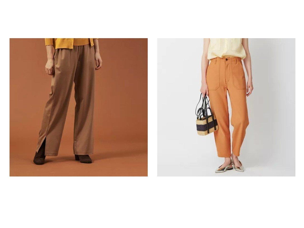 【DESIGN WORKS/デザイン ワークス】のダブルクロスカルゼ パンツ&裾スリットパンツ 【パンツ】おすすめ!人気、トレンド・レディースファッションの通販 おすすめで人気の流行・トレンド、ファッションの通販商品 メンズファッション・キッズファッション・インテリア・家具・レディースファッション・服の通販 founy(ファニー) https://founy.com/ ファッション Fashion レディースファッション WOMEN パンツ Pants シンプル スピンドル スリット ドット ボトム メタル ワーク |ID:crp329100000032868
