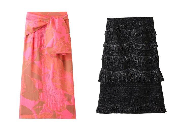 【ADORE/アドーア】のネオンジャガードスカート&【MARIHA】ウェービーフリンジスカート 【スカート】おすすめ!人気、トレンド・レディースファッションの通販 おすすめ人気トレンドファッション通販アイテム 人気、トレンドファッション・服の通販 founy(ファニー) ファッション Fashion レディースファッション WOMEN スカート Skirt エレガント シルク ジャカード ネオン 人気 春 Spring シンプル ツイード ロング |ID:crp329100000032883