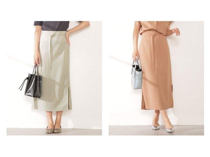 【nano universe/ナノ ユニバース】のメランジドライサイドスリットIラインスカート (セットアップ可) 【スカート】おすすめ!人気、トレンド・レディースファッションの通販 おすすめファッション通販アイテム インテリア・キッズ・メンズ・レディースファッション・服の通販 founy(ファニー) https://founy.com/ ファッション Fashion レディースファッション WOMEN セットアップ Setup スカート Skirt ウォッシャブル スリット セットアップ 半袖 メランジ |ID:crp329100000032922
