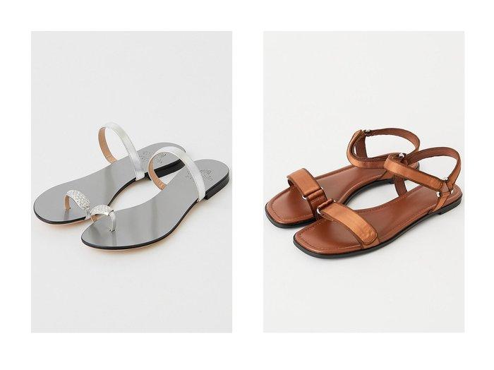 【GALLARDAGALANTE/ガリャルダガランテ】の【il Sandalo of Capri】トングビジューサンダル&サテンベルクロサンダル 【シューズ・靴】おすすめ!人気、トレンド・レディースファッションの通販 おすすめファッション通販アイテム インテリア・キッズ・メンズ・レディースファッション・服の通販 founy(ファニー) https://founy.com/ ファッション Fashion レディースファッション WOMEN イタリア エレガント サンダル シンプル ダウン ドレス なめらか ビジュー フラット ラップ ワンポイント クッション サテン ミックス  ID:crp329100000032970