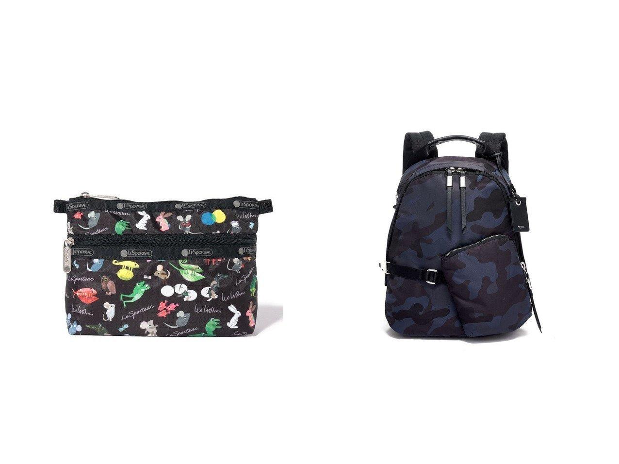 【LeSportsac/レスポートサック】のレオ・レオニ ブラック&【TUMI/トゥミ】のレディス DEVOE 「スターリング」バックパック 【バッグ・鞄】おすすめ!人気、トレンド・レディースファッションの通販 おすすめで人気の流行・トレンド、ファッションの通販商品 メンズファッション・キッズファッション・インテリア・家具・レディースファッション・服の通販 founy(ファニー) https://founy.com/ ファッション Fashion レディースファッション WOMEN バッグ Bag 財布 Wallets ポーチ Pouches キャラクター ジップ 財布 プリント ポケット ポーチ 再入荷 Restock/Back in Stock/Re Arrival 送料無料 Free Shipping おすすめ Recommend コレクション 雑誌 チャーム ドローストリング マグネット モダン リュック  ID:crp329100000033059