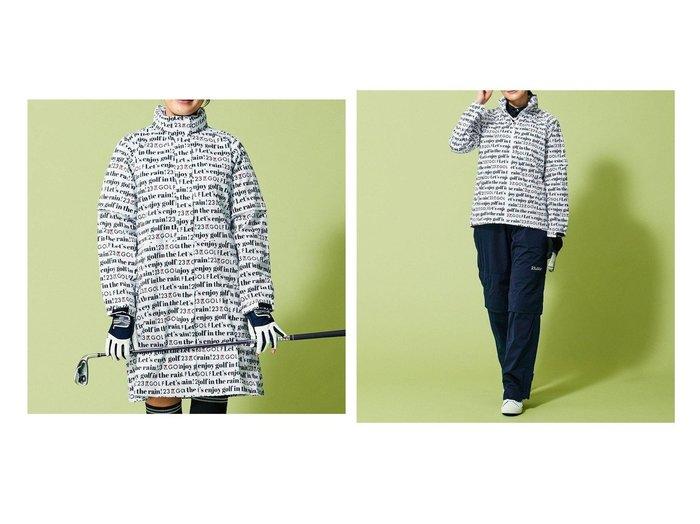 【NIJYUSANKU GOLF/23区 ゴルフ】の【WOMEN】【撥水】レインウェア&【WOMEN】【撥水】レインワンピース スポーツ・ゴルフウェアなどのおすすめ!人気ファッション通販  おすすめファッション通販アイテム レディースファッション・服の通販 founy(ファニー) ファッション Fashion レディースファッション WOMEN アウター Coat Outerwear コート Coats ジャケット Jackets ジャケット ジャージー ブルゾン プリント レイン 送料無料 Free Shipping |ID:crp329100000033266