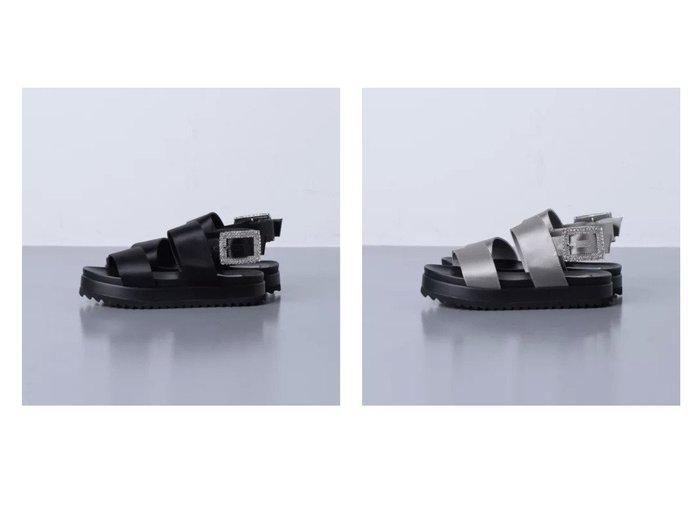 【UNITED ARROWS/ユナイテッドアローズ】のUWFM サテン ビジュー サンダル 【シューズ・靴】おすすめ!人気、トレンド・レディースファッションの通販  おすすめファッション通販アイテム インテリア・キッズ・メンズ・レディースファッション・服の通販 founy(ファニー) https://founy.com/ ファッション Fashion レディースファッション WOMEN サテン サンダル シューズ スポーティ ビジュー ラップ ワイド  ID:crp329100000033297