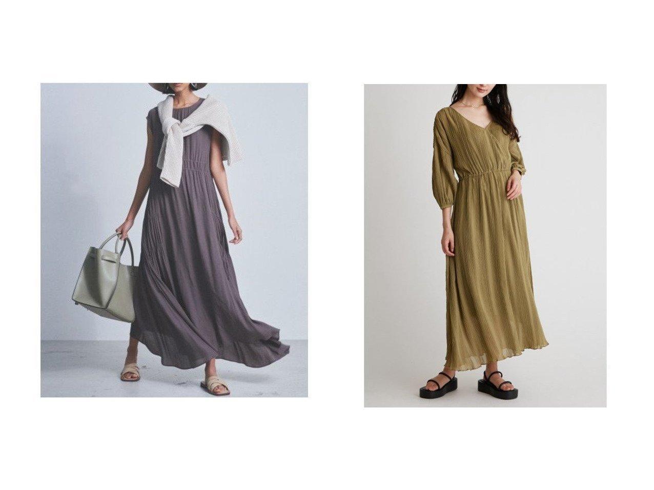 【Mila Owen/ミラオーウェン】のランダムプリーツパフスリーブワンピース&サイドギャザーノースリロングワンピース 【ワンピース・ドレス】おすすめ!人気、トレンド・レディースファッションの通販  おすすめで人気の流行・トレンド、ファッションの通販商品 メンズファッション・キッズファッション・インテリア・家具・レディースファッション・服の通販 founy(ファニー) https://founy.com/ ファッション Fashion レディースファッション WOMEN ワンピース Dress イレギュラー インナー キャミソール ギャザー シャーリング スマート ノースリーブ フロント ルーズ カシュクール シアー シンプル スリーブ テクスチャー デコルテ 長袖 プリーツ ランダム リラックス ロング  ID:crp329100000033357