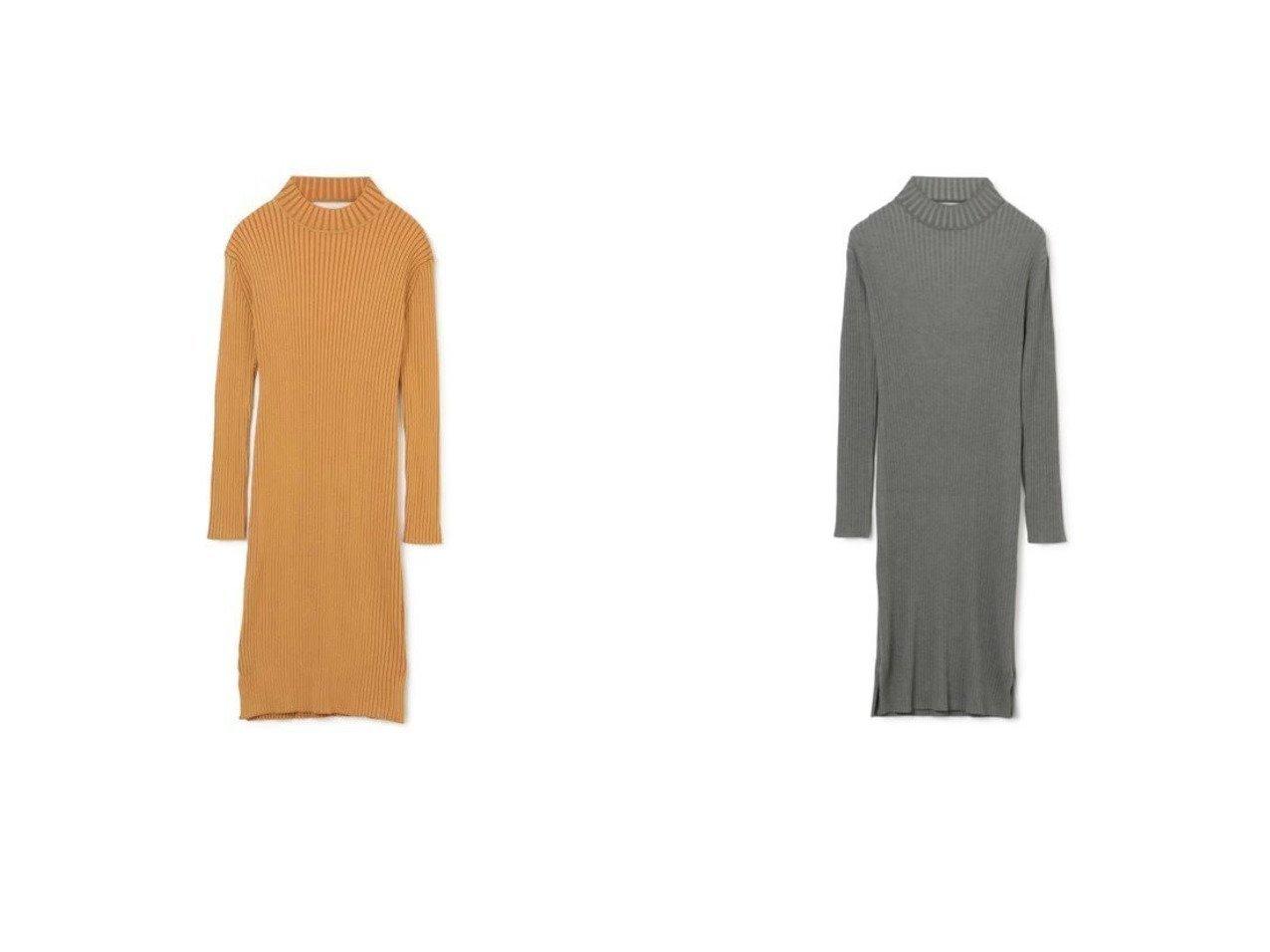 【LE CIEL BLEU/ルシェル ブルー】のTwist Rib Knit Dress 【ワンピース・ドレス】おすすめ!人気、トレンド・レディースファッションの通販  おすすめで人気の流行・トレンド、ファッションの通販商品 メンズファッション・キッズファッション・インテリア・家具・レディースファッション・服の通販 founy(ファニー) https://founy.com/ ファッション Fashion レディースファッション WOMEN ワンピース Dress ドレス Party Dresses ニットワンピース Knit Dresses シンプル スリット ツイスト ドレス ハイネック フォーマル フロント 長袖  ID:crp329100000033361