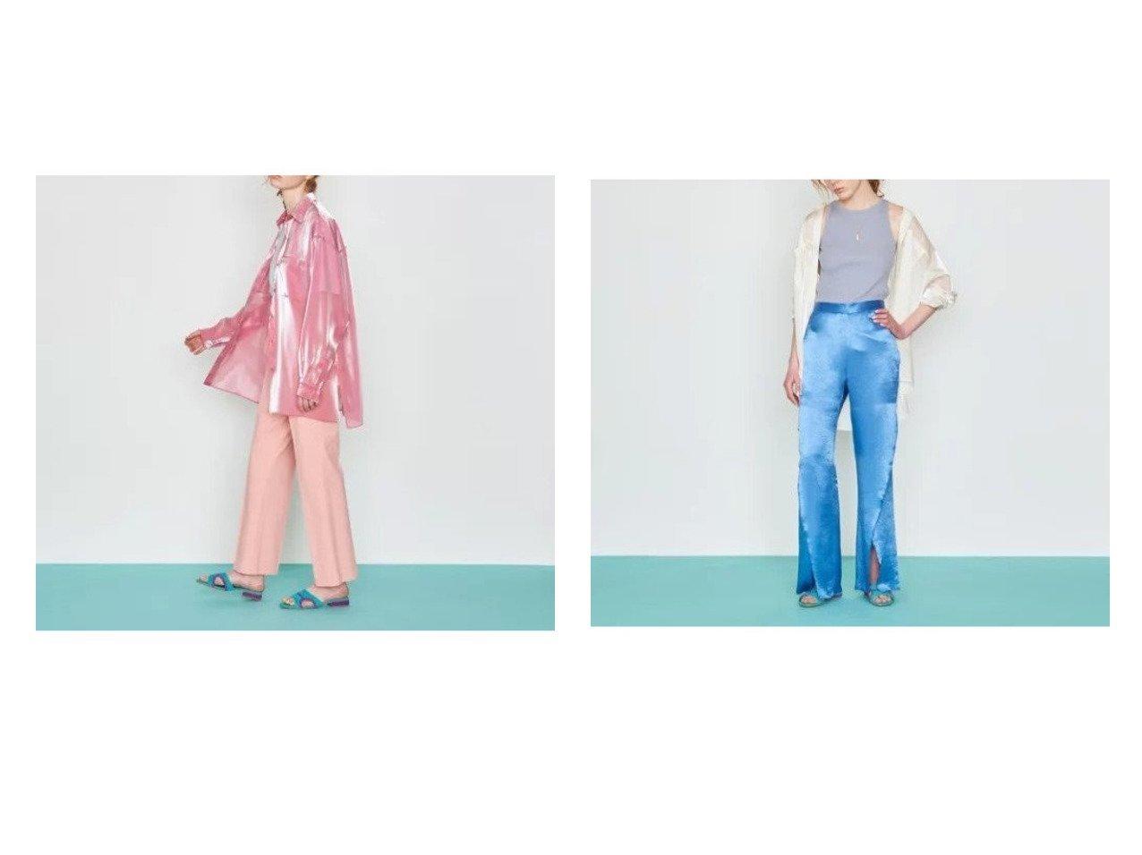 【UNITED ARROWS/ユナイテッドアローズ】のオーガンジー シャツ† 【トップス・カットソー】おすすめ!人気、トレンド・レディースファッションの通販  おすすめで人気の流行・トレンド、ファッションの通販商品 メンズファッション・キッズファッション・インテリア・家具・レディースファッション・服の通販 founy(ファニー) https://founy.com/ ファッション Fashion レディースファッション WOMEN トップス・カットソー Tops/Tshirt シャツ/ブラウス Shirts/Blouses オーガンジー ダブル ドローストリング ビッグ ポケット メタリック リラックス 長袖 |ID:crp329100000033377