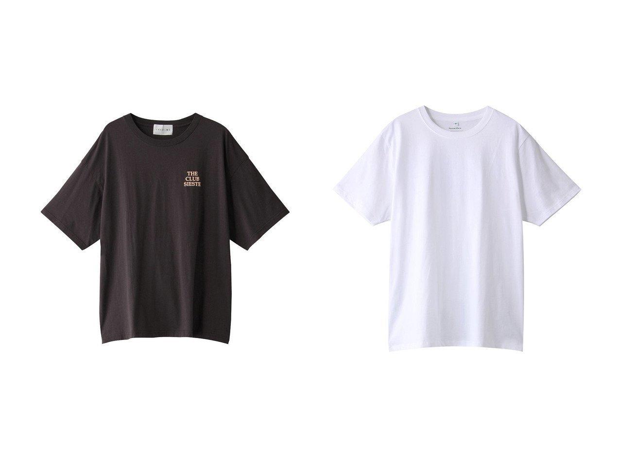【ROSE BUD/ローズバッド】の【CREOLME】THE CLUB SIESTA Tシャツ&【GALLARDAGALANTE/ガリャルダガランテ】の【Personal Effects】カットソー/HAWAIAN CEMENT 【トップス・カットソー】おすすめ!人気、トレンド・レディースファッションの通販 おすすめで人気の流行・トレンド、ファッションの通販商品 メンズファッション・キッズファッション・インテリア・家具・レディースファッション・服の通販 founy(ファニー) https://founy.com/ ファッション Fashion レディースファッション WOMEN トップス・カットソー Tops/Tshirt シャツ/ブラウス Shirts/Blouses ロング / Tシャツ T-Shirts カットソー Cut and Sewn S/S・春夏 SS・Spring/Summer ショート スリーブ フロント ボトム 春 Spring |ID:crp329100000033763
