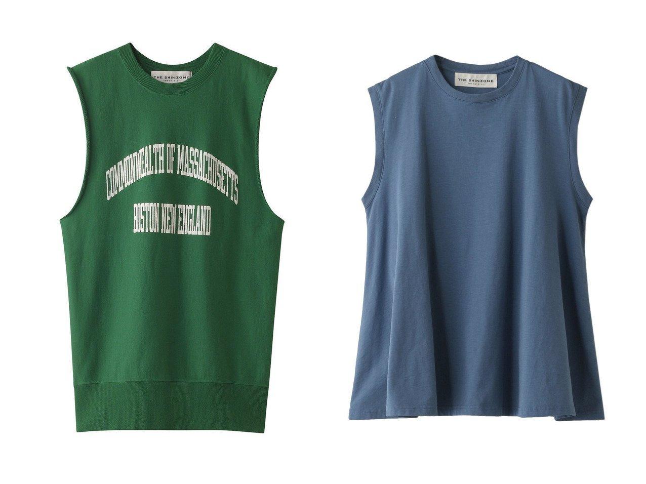 【Shinzone/シンゾーン】のカットオフスエットプルオーバー&フレアノースリーブTシャツ 【トップス・カットソー】おすすめ!人気、トレンド・レディースファッションの通販 おすすめで人気の流行・トレンド、ファッションの通販商品 メンズファッション・キッズファッション・インテリア・家具・レディースファッション・服の通販 founy(ファニー) https://founy.com/ ファッション Fashion レディースファッション WOMEN トップス・カットソー Tops/Tshirt キャミソール / ノースリーブ No Sleeves シャツ/ブラウス Shirts/Blouses ロング / Tシャツ T-Shirts プルオーバー Pullover カットソー Cut and Sewn キャミソール タンク タートルネック ノースリーブ フロント プリント S/S・春夏 SS・Spring/Summer シンプル フレア ボトム ルーズ ワイド 春 Spring  ID:crp329100000033774