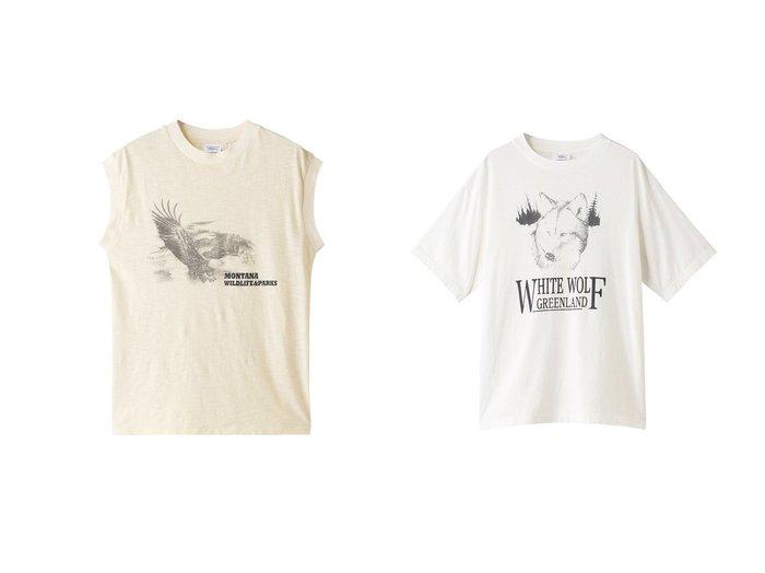 【Shinzone/シンゾーン】のイーグルプリントタンクトップ&WHITE WOLF Tシャツ 【トップス・カットソー】おすすめ!人気、トレンド・レディースファッションの通販 おすすめ人気トレンドファッション通販アイテム 人気、トレンドファッション・服の通販 founy(ファニー) ファッション Fashion レディースファッション WOMEN トップス・カットソー Tops/Tshirt キャミソール / ノースリーブ No Sleeves シャツ/ブラウス Shirts/Blouses ロング / Tシャツ T-Shirts カットソー Cut and Sewn キャミソール タンク デニム プリント マキシ ショート スリーブ フォルム フロント ベーシック モチーフ  ID:crp329100000033776