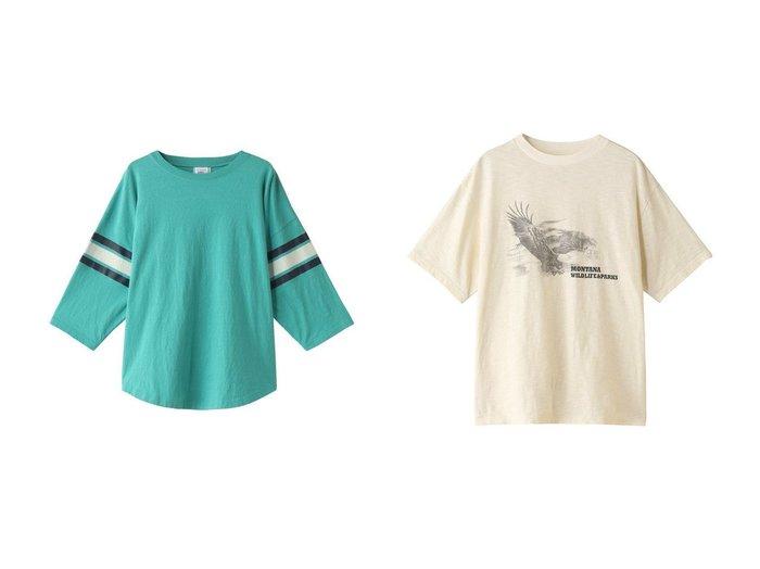【Shinzone/シンゾーン】のGREEN LEAF Tシャツ&イーグルプリントTシャツ 【トップス・カットソー】おすすめ!人気、トレンド・レディースファッションの通販 おすすめ人気トレンドファッション通販アイテム 人気、トレンドファッション・服の通販 founy(ファニー) ファッション Fashion レディースファッション WOMEN トップス・カットソー Tops/Tshirt シャツ/ブラウス Shirts/Blouses ロング / Tシャツ T-Shirts カットソー Cut and Sewn ショート スポーティ スリーブ トレンド プリーツ ボトム ワイド フェミニン フロント プリント ベーシック  ID:crp329100000033777