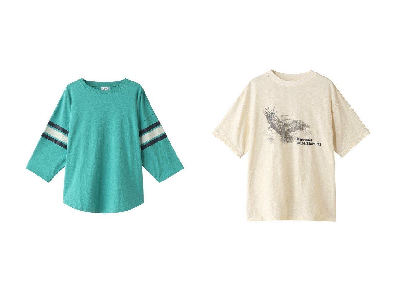 【Shinzone/シンゾーン】のGREEN LEAF Tシャツ&イーグルプリントTシャツ 【トップス・カットソー】おすすめ!人気、トレンド・レディースファッションの通販 おすすめで人気の流行・トレンド、ファッションの通販商品 メンズファッション・キッズファッション・インテリア・家具・レディースファッション・服の通販 founy(ファニー) https://founy.com/ ファッション Fashion レディースファッション WOMEN トップス・カットソー Tops/Tshirt シャツ/ブラウス Shirts/Blouses ロング / Tシャツ T-Shirts カットソー Cut and Sewn ショート スポーティ スリーブ トレンド プリーツ ボトム ワイド フェミニン フロント プリント ベーシック  ID:crp329100000033777
