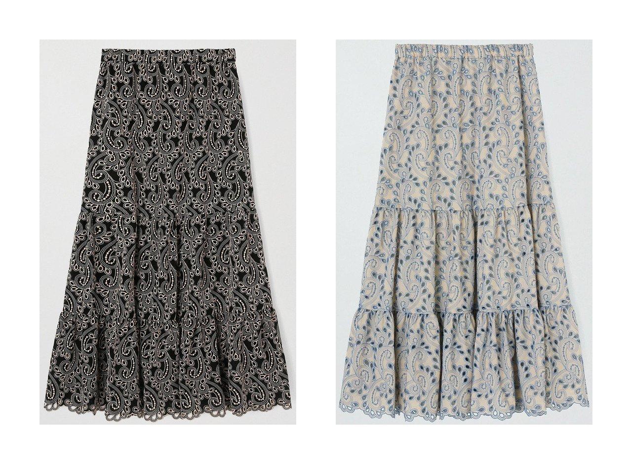 【ANAYI/アナイ】のバイカラーペイズリーロング スカート 【スカート】おすすめ!人気、トレンド・レディースファッションの通販  おすすめで人気の流行・トレンド、ファッションの通販商品 メンズファッション・キッズファッション・インテリア・家具・レディースファッション・服の通販 founy(ファニー) https://founy.com/ ファッション Fashion レディースファッション WOMEN スカート Skirt ロングスカート Long Skirt ティアードスカート ロング |ID:crp329100000033932
