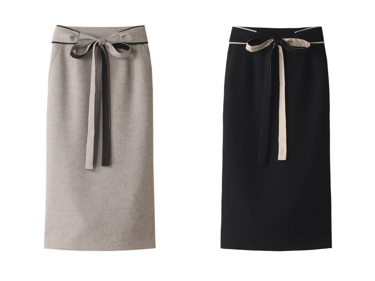 【allureville/アルアバイル】のハイショクサッシュツキタイトスカート 【スカート】おすすめ!人気、トレンド・レディースファッションの通販  おすすめで人気の流行・トレンド、ファッションの通販商品 メンズファッション・キッズファッション・インテリア・家具・レディースファッション・服の通販 founy(ファニー) https://founy.com/ ファッション Fashion レディースファッション WOMEN スカート Skirt タイトスカート リバーシブル リボン |ID:crp329100000033935