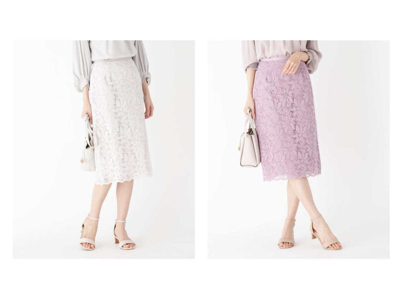 【INDEX/インデックス】の【WEB限定サイズ】エンブロイダリーレースタイトスカート 【スカート】おすすめ!人気、トレンド・レディースファッションの通販  おすすめで人気の流行・トレンド、ファッションの通販商品 メンズファッション・キッズファッション・インテリア・家具・レディースファッション・服の通販 founy(ファニー) https://founy.com/ 雑誌掲載アイテム Magazine Items ファッション雑誌 Fashion Magazines ビジンヒャッカ 美人百花 ファッション Fashion レディースファッション WOMEN スカート Skirt エレガント 4月号 シンプル ジャケット 雑誌 レース |ID:crp329100000033947