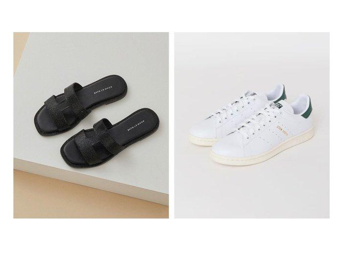 【Sonny Label / URBAN RESEARCH/サニーレーベル】のadidas STAN SMITH&【ADAM ET ROPE'/アダム エ ロペ】のIストラップラインストーンサンダル 【シューズ・靴】おすすめ!人気、トレンド・レディースファッションの通販   おすすめファッション通販アイテム インテリア・キッズ・メンズ・レディースファッション・服の通販 founy(ファニー) https://founy.com/ ファッション Fashion レディースファッション WOMEN 春 Spring サンダル シューズ シルバー シンプル ジュエリー ストーン 人気 フラット リゾート リラックス 2021年 2021 S/S・春夏 SS・Spring/Summer 2021春夏・S/S SS/Spring/Summer/2021 おすすめ Recommend クラシック スニーカー  ID:crp329100000033959