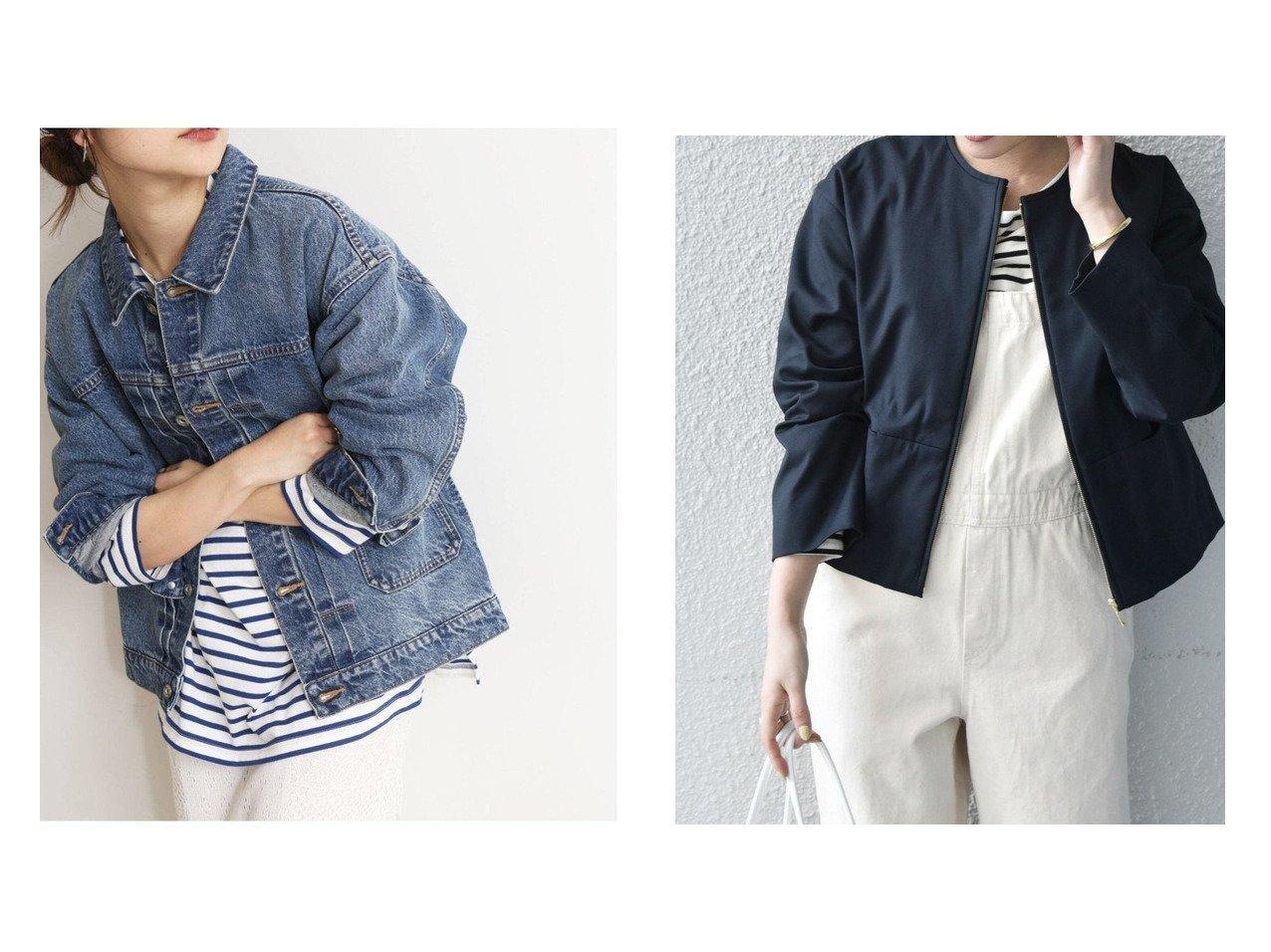 【SHIPS any/シップス エニィ】のSHIPS any オックスジップジャケット&【SLOBE IENA/スローブ イエナ】の追加2 LE DENIMMARITAS Gジャン 【アウター】おすすめ!人気、トレンド・レディースファッションの通販   おすすめで人気の流行・トレンド、ファッションの通販商品 メンズファッション・キッズファッション・インテリア・家具・レディースファッション・服の通販 founy(ファニー) https://founy.com/ ファッション Fashion レディースファッション WOMEN アウター Coat Outerwear コート Coats ジャケット Jackets デニムジャケット Denim Jackets ノーカラージャケット No Collar Leather Jackets NEW・新作・新着・新入荷 New Arrivals 2021年 2021 2021春夏・S/S SS/Spring/Summer/2021 S/S・春夏 SS・Spring/Summer ジャケット デニム 再入荷 Restock/Back in Stock/Re Arrival おすすめ Recommend セットアップ フォルム |ID:crp329100000033997